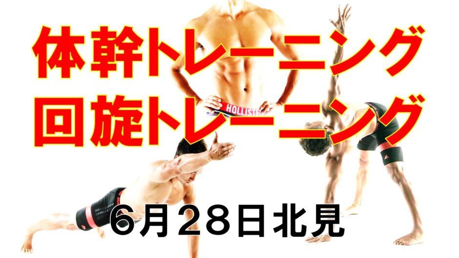 体幹トレーニング&回旋トレーニング